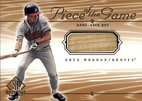 2001 SP Game Bat Piece of the Game #GM Greg Maddux MEM Atlanta Braves Baseball MLB from SP Game Bat