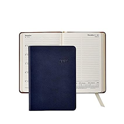 Amazon.com : 2019 Notebook Planner 7 Navy-Blue Traditional ...