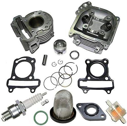 Unbranded 80ccm Sport Zylinder KIT Kopf f/ür REX RS 460 50ccm 4T bis2017 Zylinderkit