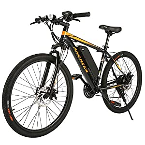 "ANCHEER Electric Bike Electric Mountain Bike 350W Ebike 26"" Electric Bicycle, 20MPH Adults Ebike with Removable 7.8/10.4Ah Battery, Professional 21 Speed Gears"