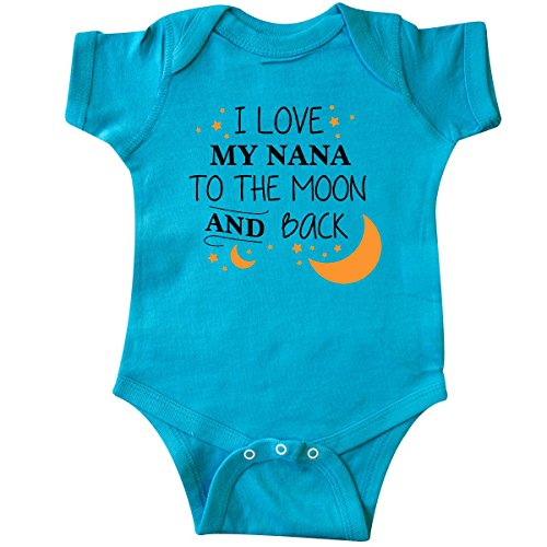 inktastic - I Love My Nana to The Moon Infant Creeper 6 Months Turquoise 29679