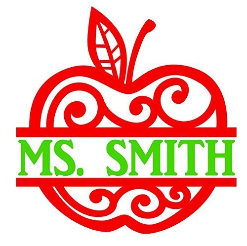 Personalized Apple Teacher Name Decal product image