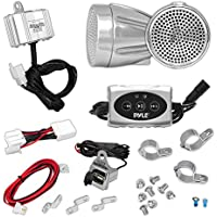 Pyle PLMCA62BT 600 Watt Motorcycle Bluetooth Weatherproof Sound System with Speakers, Amplifier and iPod Input