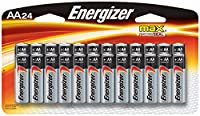 Energizer AA Batteries, Double A Battery Max Alkaline, 24 Count