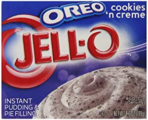 Jell-O Oreo Cookies 'n Creme Instant Pudding & Pie Filling Mix, 4.2-Ounce Box (Pack of 6)