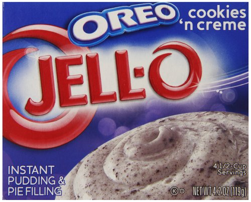 Jell-O Oreo Cookies 'n Creme Instant Pudding & Pie Filling Mix, 4.2-Ounce Box (Pack of (Cookies With Pudding)