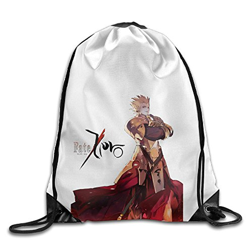 Bekey Fate Zero Character Gym Drawstring Backpack Bags For Men & Women For Home Travel Storage Use Gym Traveling Shopping Sport Yoga (Female X Men Characters)