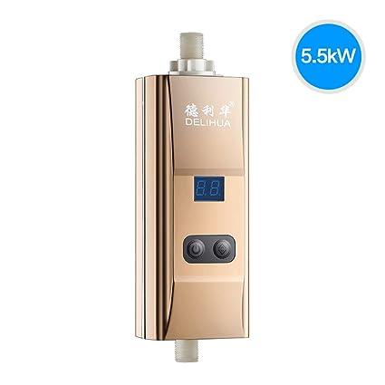 LJ Calentador de agua eléctrico Calentador de agua instantáneo Calentador de agua sin tanque para cocina