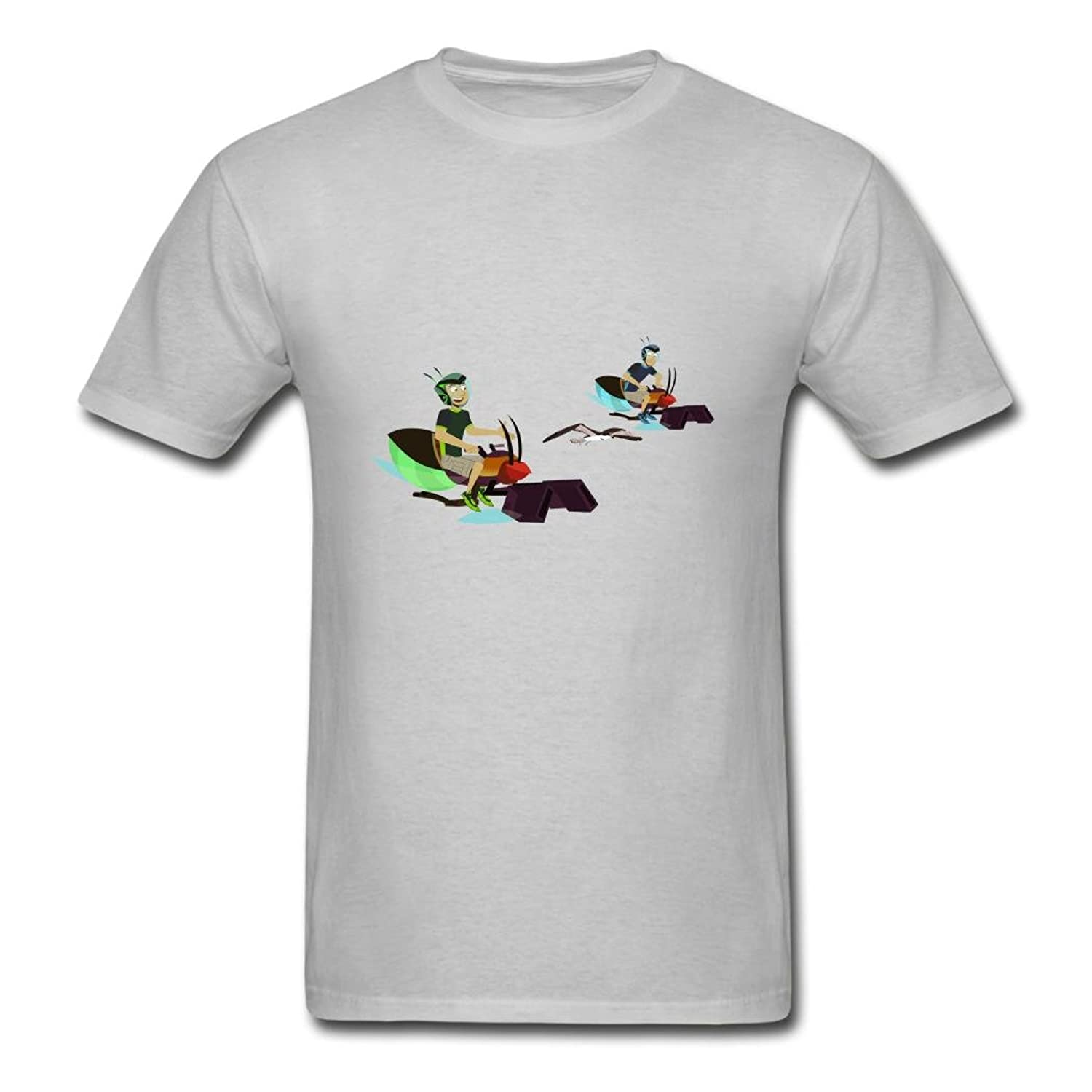 Adults' Cotton Custom The Wild Kratts Osprey T Shirt Gray