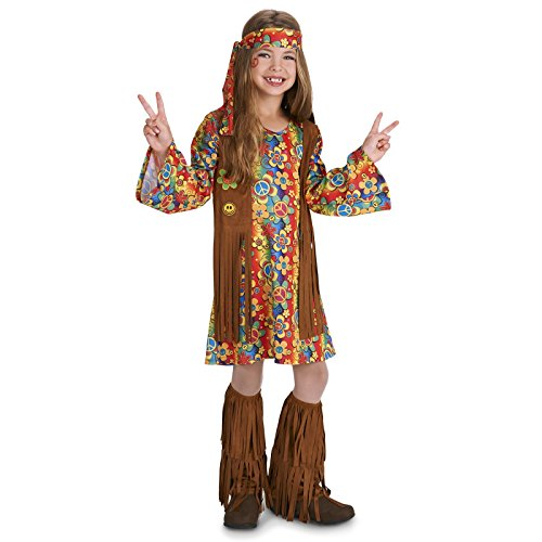 Fringe 60's Hippie Dress Up Child Costume M (8-10)