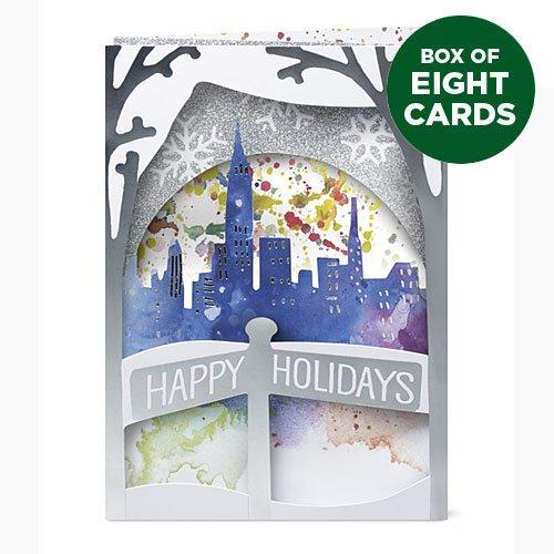 Design Ideas MoMA 3D Pop Up Christmas Cards - WINTER SKYL...