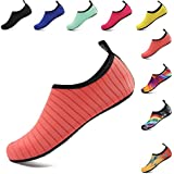 OUYAJI Water Shoes Beach Swim Barefoot Shoes Quick Dry Aqua Socks Yoga for Women's Men's Kid Summer Rose-40-41