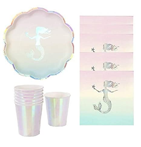 Amazon Com Mermaid Party Opalescent Elegant Party Supplies Silver
