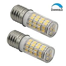E17 LED T7 T8 Intermediate Base LED Appliance Bulb T8 T7 Lightbulb Dimmable 110 volt - 130v Pack of 2 Microwave Oven Light Bulbs(Warm White 2 Pieces)