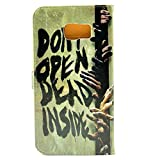 Galaxy Note 5 Case Zombie Dont open dead Inside Hand Fun Cool Design Pattern Leather Wallet Credit Card Holder Pouch Flip Stand Case Cover For Samsung Galaxy Note 5