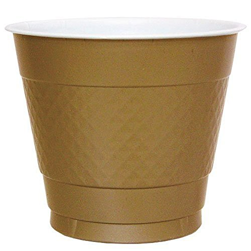 Wholesale Hanna K. Signature Collection 100 Count Plastic Cup, 9-Ounce, Gold
