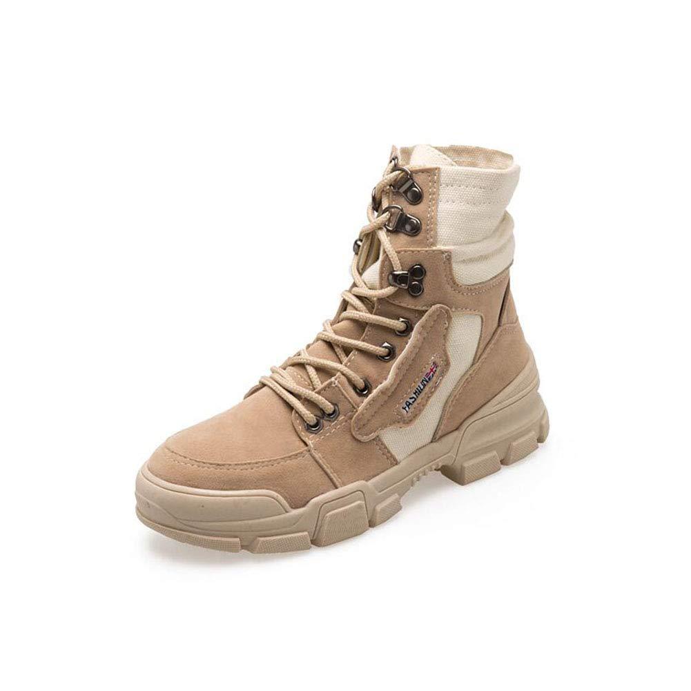 FF High Heel Schuhe Damen Tube Canvas Short Tube Damen Martin Stiefel (Farbe : Apricot, Größe : EU36/UK3.5/CN35) - e89e7c