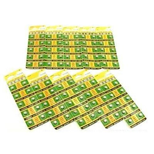 100 AG3 392 LR41 Alkaline Batteries SR41 Buttton Cell (10 pack of 10. 100 total)