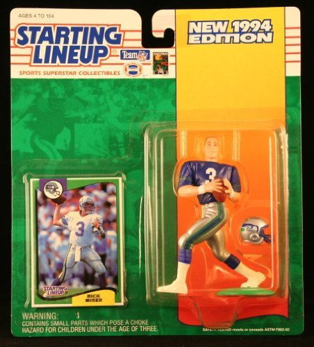 - RICK MIRER / SEATTLE SEAHAWKS 1994 NFL Starting Lineup Action Figure & Exclusive NFL Collector Trading Card by Starting Line Up