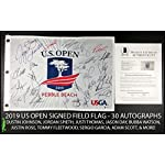 2019 Us Open Autograph Signed Field Flag Dustin Johnson Spieth Beckett Bas Coa Flags