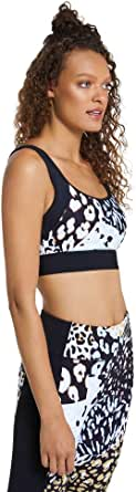 Rockwear Activewear Women's Hi Urban Jungle Blocked Sports Bra From size 4-18 High Impact Bras For
