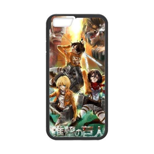 Attack On Titan Black coque iPhone 6 Plus 5.5 Inch Housse téléphone Noir de couverture de cas coque EBDOBCKCO13788
