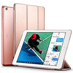 New iPad 2017 iPad 9 7 inch Case ESR Lightweight Smart Case Trifold Stand with Auto Sleep Wake Function Microfiber Lining Hard Back Cover for Apple New iPad 9 7 inch Rose Gold