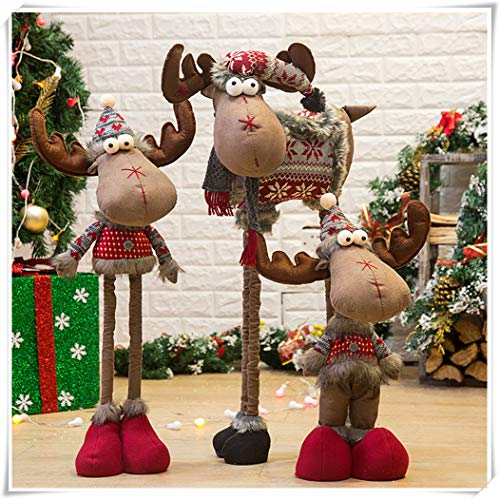 Running Deer Christmas, Standing Figurine Christmas Tree Snowman Doll Gift, Christmas Decoration, Christmas Decorations.
