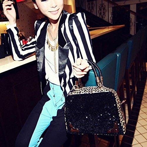Estate Tracolla Donna Elegante Vintage Borsetta Leopardo Nera Borsa Borsa Homebaby® Borsetta Tracolla Donna Pelle Nero 2018 Grande Borsa Nera Tote Borsa Donna Borsa RqwXz61