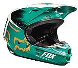 Fox Racing Vandal Youth V1 Off-Road Motorcycle Helmet - Green/Orange / Small