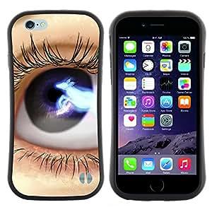 "Pulsar iFace Series Tpu silicona Carcasa Funda Case para Apple iPhone 6 / 6S (4.7 INCH) , Ojos: Azul Negro Lashes Espacio Close Up"""