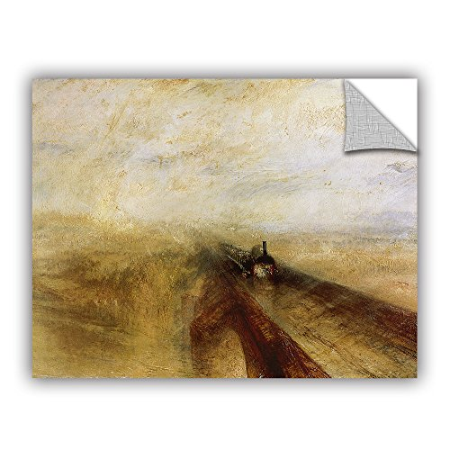 ArtWall William Turner's Rain Steam and Speed The Great Western Railway Art Appeelz Removable Graphic Wall Art, 18