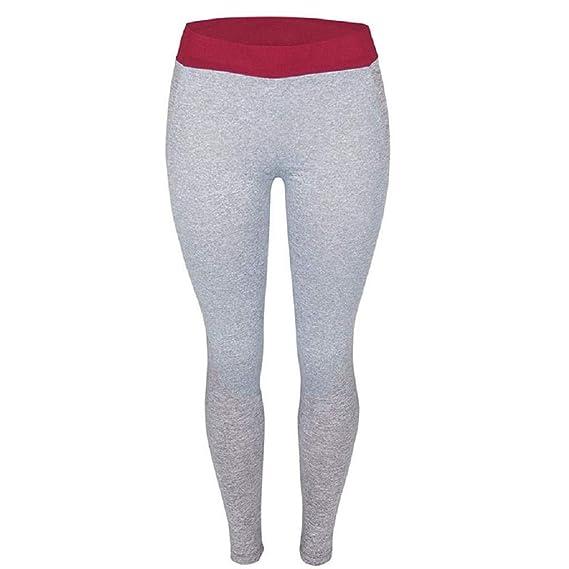QUICKLYLY Yoga Mallas Leggins Pantalones Mujer,Mujeres Deportes Gimnasio Yoga Entrenamiento Cintura Alta Pantalones De Correr Gimnasio Leggings Elásticos: ...