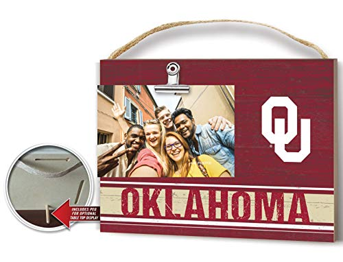 - KH Sports Fan Clip It Colored Logo Photo Frame Oklahoma Sooners