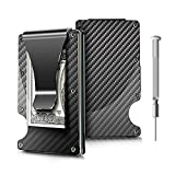 Money Clip, Carbon Fiber Wallet - Minimalist Wallets Credit Card Holder RFID Blocking Wallets Carbon Fiber Money Clip For Men Or Women (black)