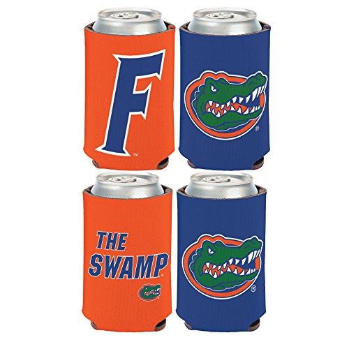 WinCraft NCAA University of Florida Gators 2 Pack 12 oz. 2-Sided Can Coolers (Holder Florida Gator Beer)
