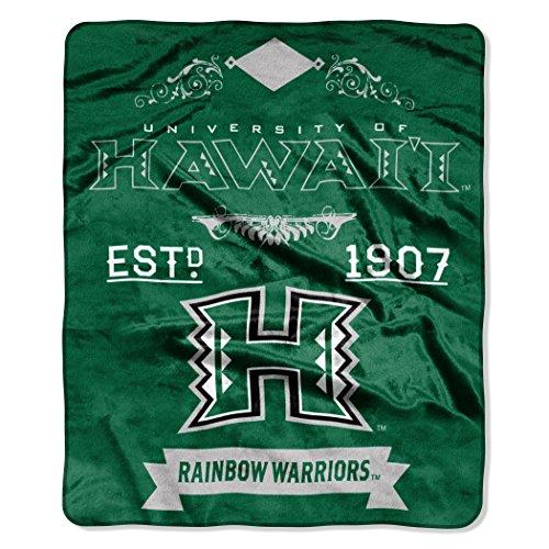 Hawaii Warriors Game (NCAA Hawaii Rainbow Warriors Label Plush Raschel Throw, 50