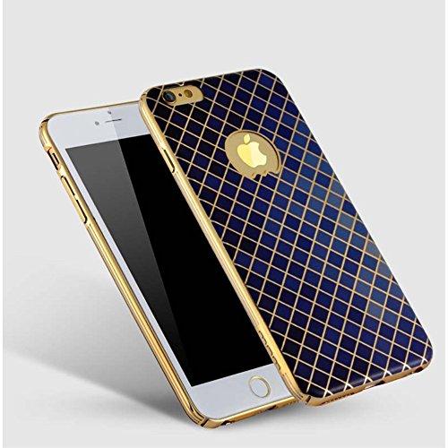 jlw Apple iPhone 6Plus/6S Plus Étui Housse Case Deluxe Designer decui Bleu Plastique rigide Coque