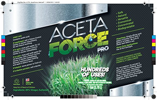 ACETA FORCE | Industrial Strength 30% Natural Acetic Acid Vinegar For Home & Garden (1 Gallon)