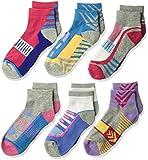 Jefferies Socks Girls' Little Tech Sport Quarter