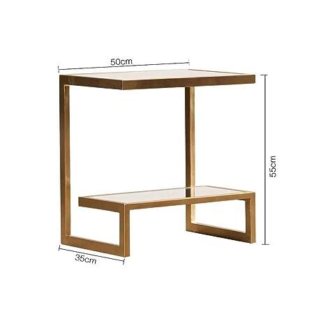 Tavolino Salotto Ferro Battuto E Vetro.Xgfsj Mini Tavolino Da Salotto In Ferro Battuto E Vetro Per