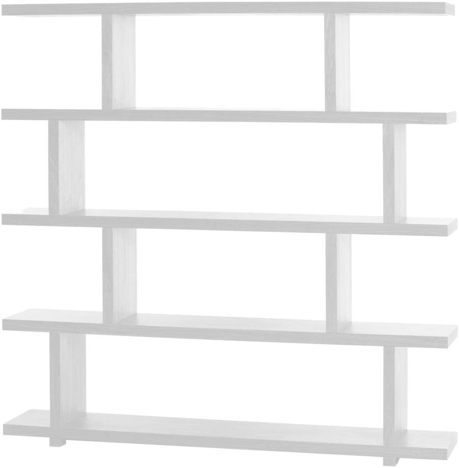 Moe s Home Collection Miri Bookshelf, White, Large