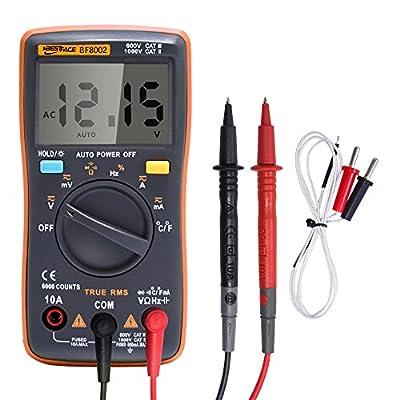 Portable Meter Digital Multimeter 6000 counts Backlight AC/DC Ammeter Voltmeter Ohm Temperature Tester