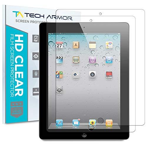 Tech Armor iPad Screen Protector, Anti-Glare/Anti-Fingerprint Apple iPad 4 / 3 / 2 / 1 [NOT IPAD AIR] Film Screen Protector [2-Pack] (Best Tablet Not Apple)