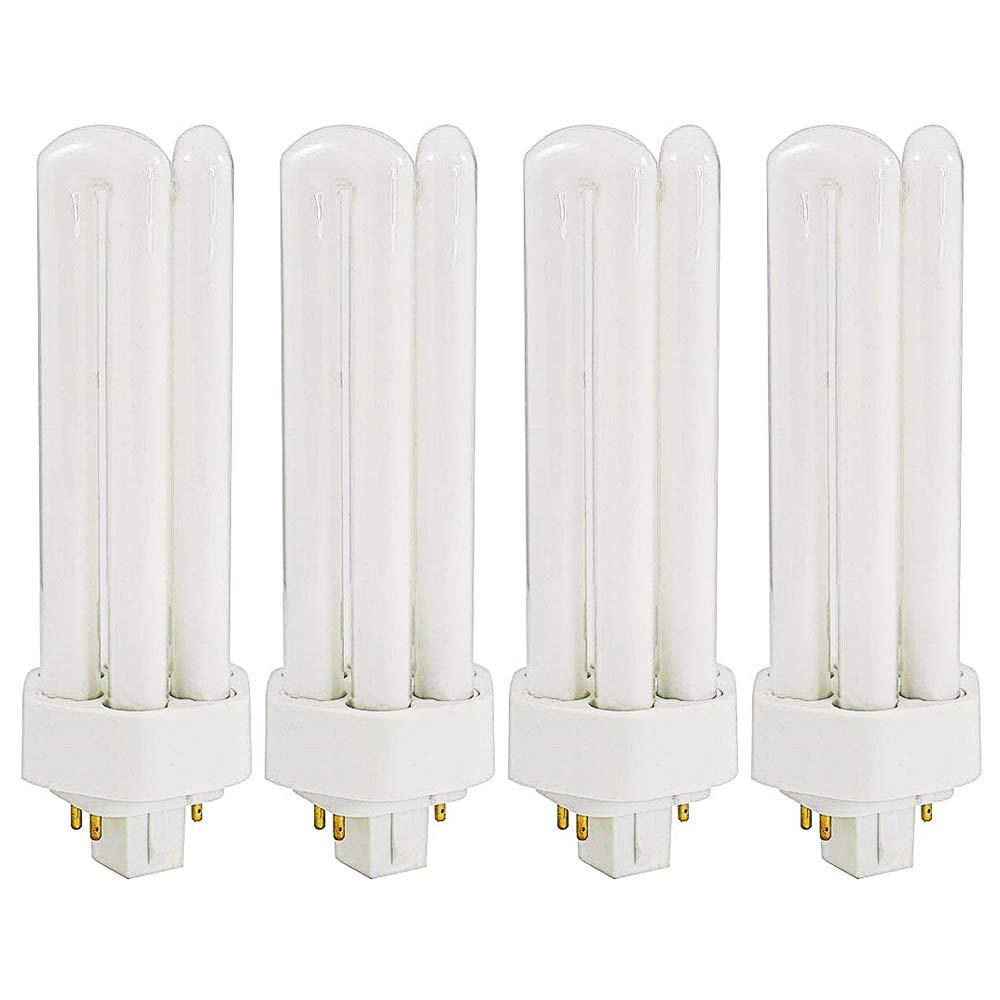 Luxrite LR20405 (4-Pack) CF32DT/E/835 32-Watt Triple Tube Compact Fluorescent Light Bulb, Natural White, 3500K, 2400 Lumens, GX24Q-3 4-Pin Base
