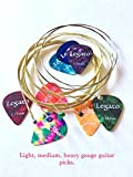Legato Acoustic Guitar Strings Set (3 Pack) Phosphor Bronze 75/25 Normal Light 11-52 with 6 Assorted Picks Bundle for Acoustic and Electric Acoustic Guitars