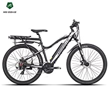21 speeds, 27.5 Inches Electric Bicycle, 36V Invisibility Battery, Suspension Fork,Both Disc Brake, E bike Mountain Bike