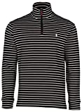 Polo Ralph Lauren Men's Half Zip Ribbed Mock Neck Sweater (L, Polo Black/White)
