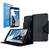 Cellto Google Nexus 6 Premium Wallet Case with HD Screen Protector [Dual Magnetic Flap] Diary Cover /w ID Pocket Top Quality & Stand in Multiple Angles + Life Time Warranty - Premium Black