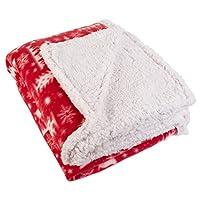 "J&M Home Fashions Plaid Fleece, manta de tiro de felpa, 50 ""x 60"""